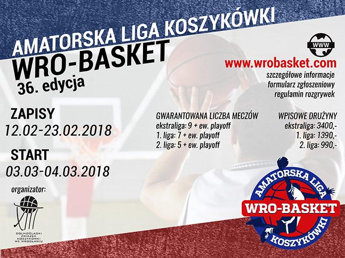 Zapraszamy do udziału w 36. edycji Amatorskiej Ligi Koszykówki WroBasket